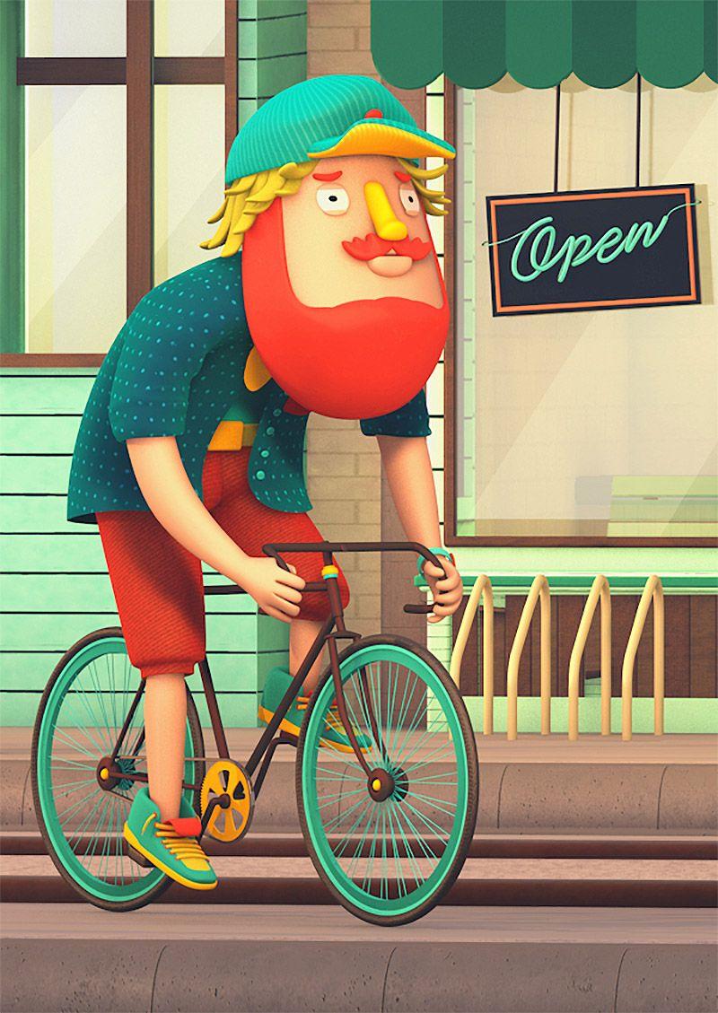 Yury Muzyrya: 3D Illustrations By Rob Juárez