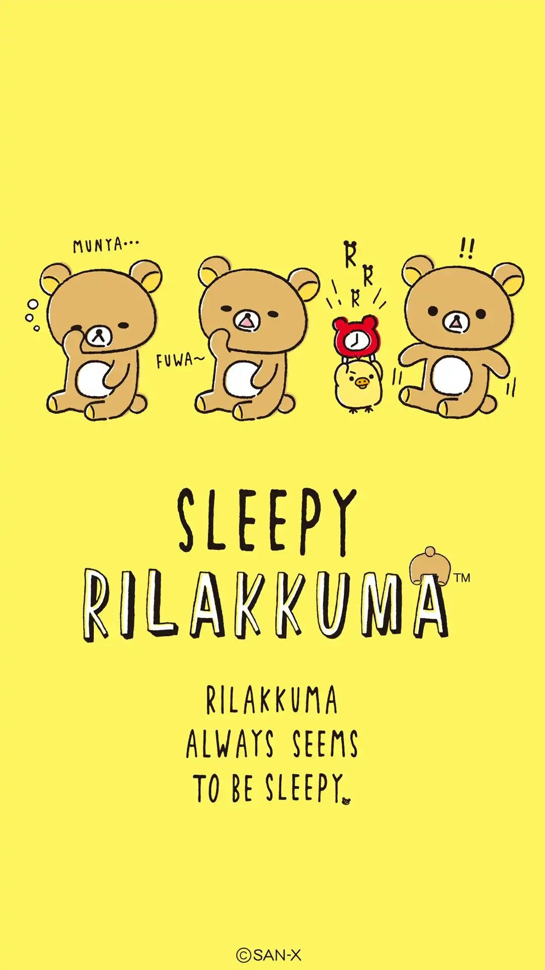 Sleepy Rilakkuma Zzz リラックマ イラスト 壁紙 かわいい