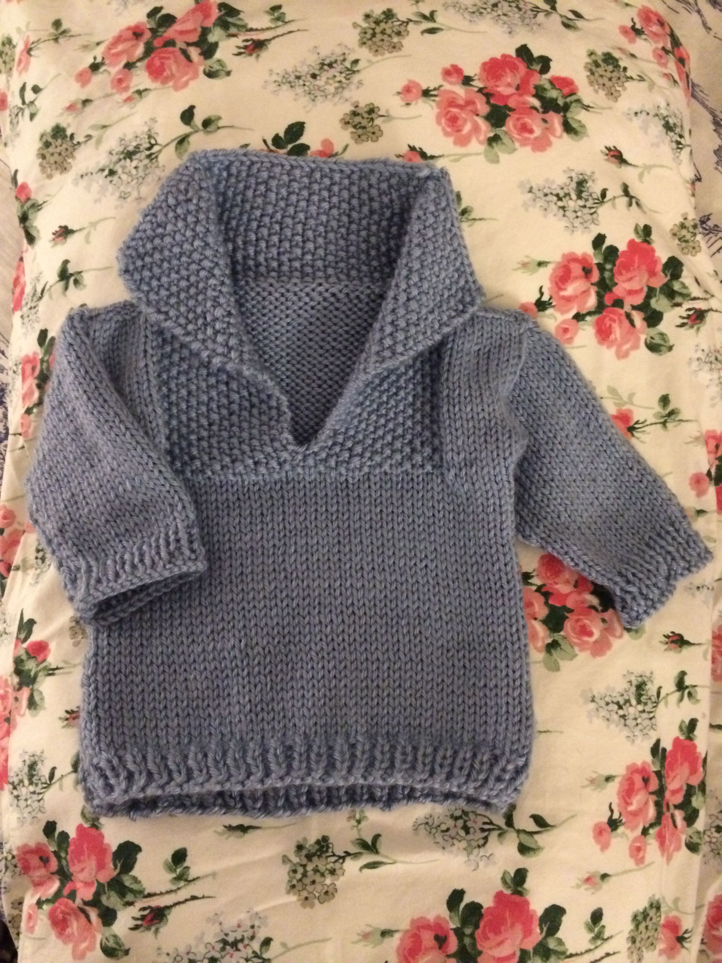 Easy knit baby sweater . This is for chest size 22 and 26 inch baby ...