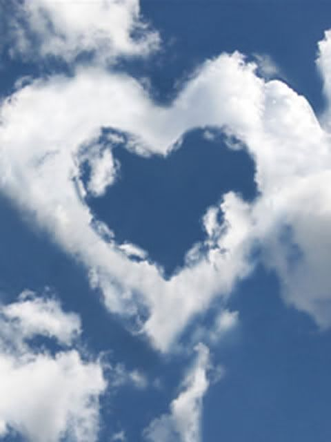Heart formed by clouds