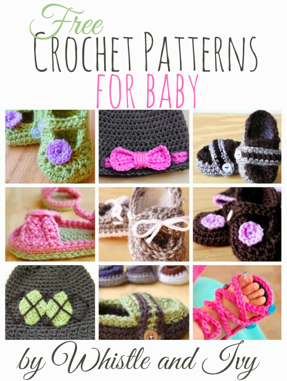 Many FREE crochet patterns for baby by Whistley and Ivy - great for ...