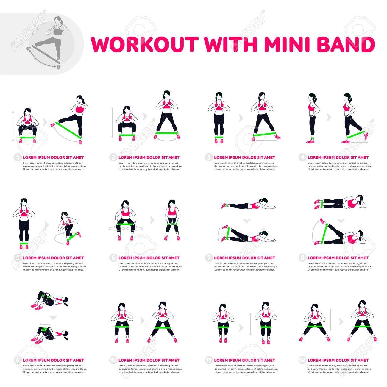 Bandes de résistance Sports Mini Boucle Élastique Fitness Yoga UK Exercise Workout Gym S