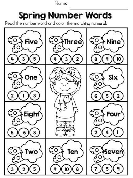 Spring Number Words Fun And Engaging Activity To Teach Recognition O Spring Math Activities Kindergarten Kindergarten Math Activities Spring Math Activities Number worksheets for kindergarten