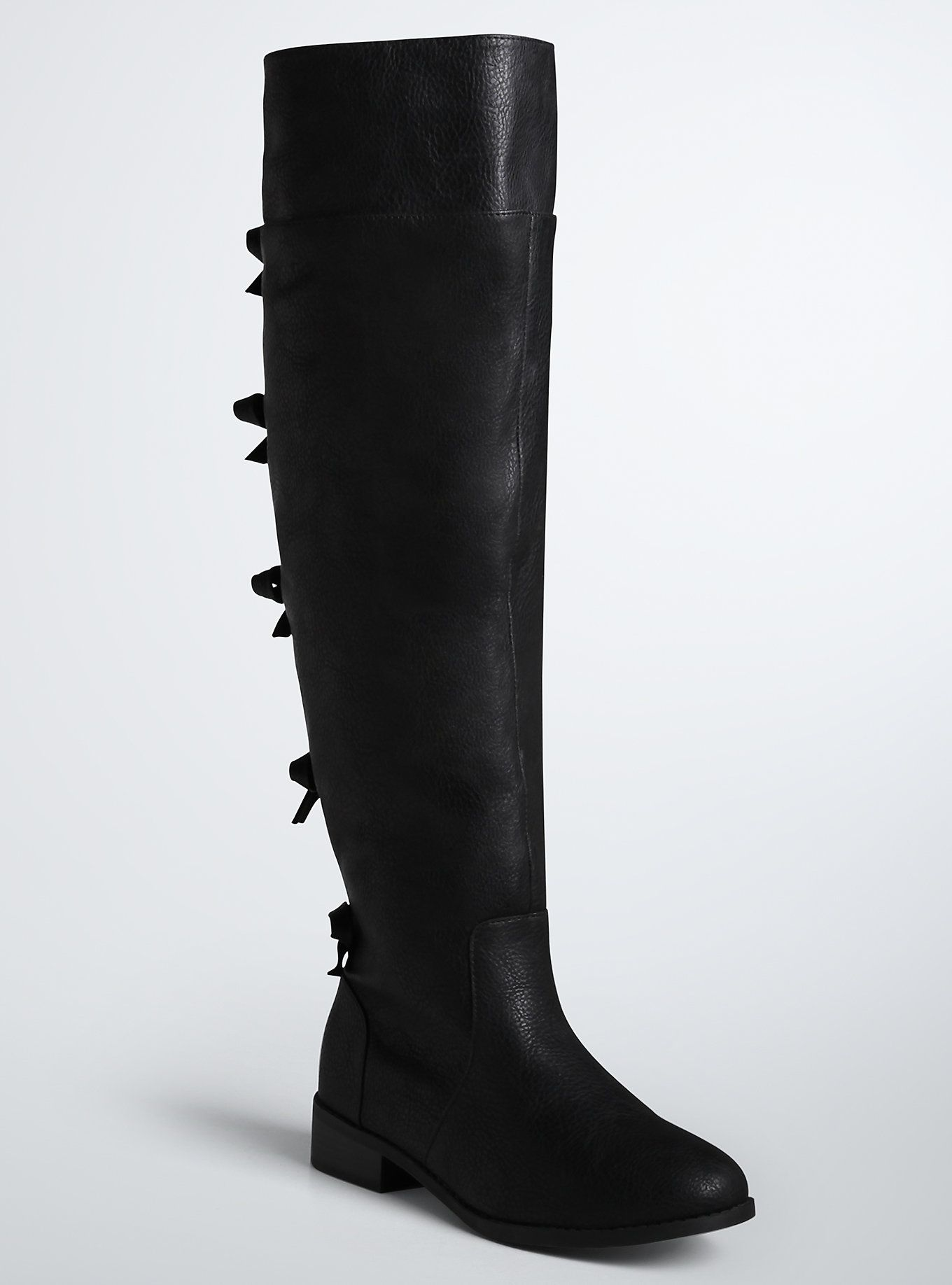 Bow Back Over The Knee Boots (Wide Width & Wide Calf) | Torrid ...