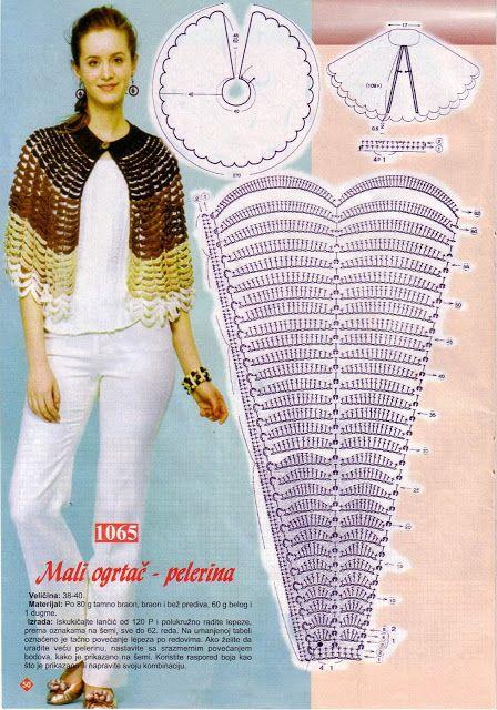 Patron Crochet Mini-Capa - Patrones Crochet   Capas y pashminas ...