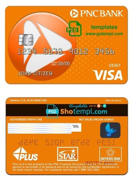 gotempl  visa debit card pnc debit card
