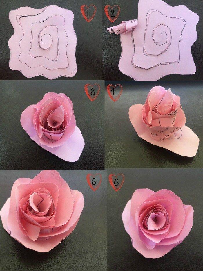 1001 + idées pour fabriquer une rose en papier aussi belle que la vraie en 2020   Tuto fleurs en ...