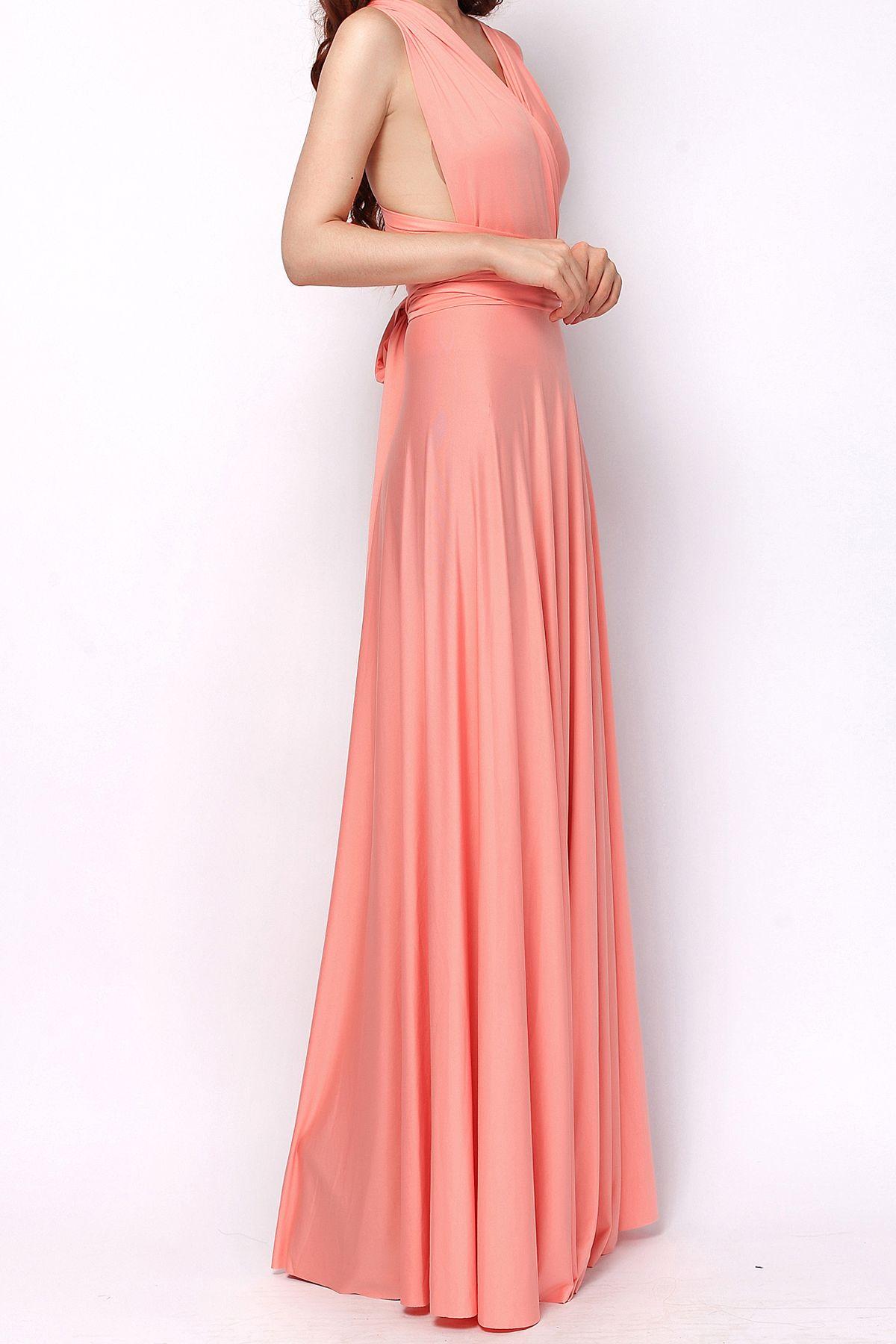 Light coral long infinity dress bridesmaids dresses [lg-35] - $73.80 ...