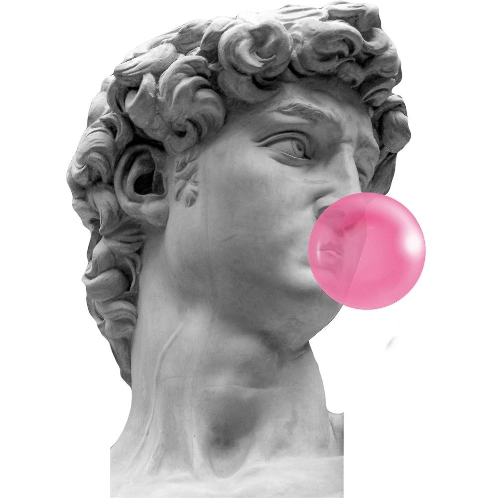 'David (Michelangelo) Bubble Gum' by maeroks