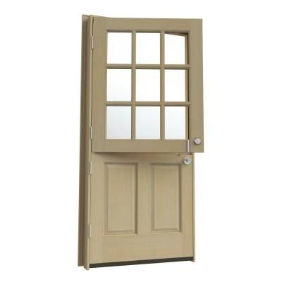 Jeld Wen Dutch Hemlock 9 Lite Unfinished Entry Door With Auralast Jamb And Brickmold O10857 At The Home Depot 1220