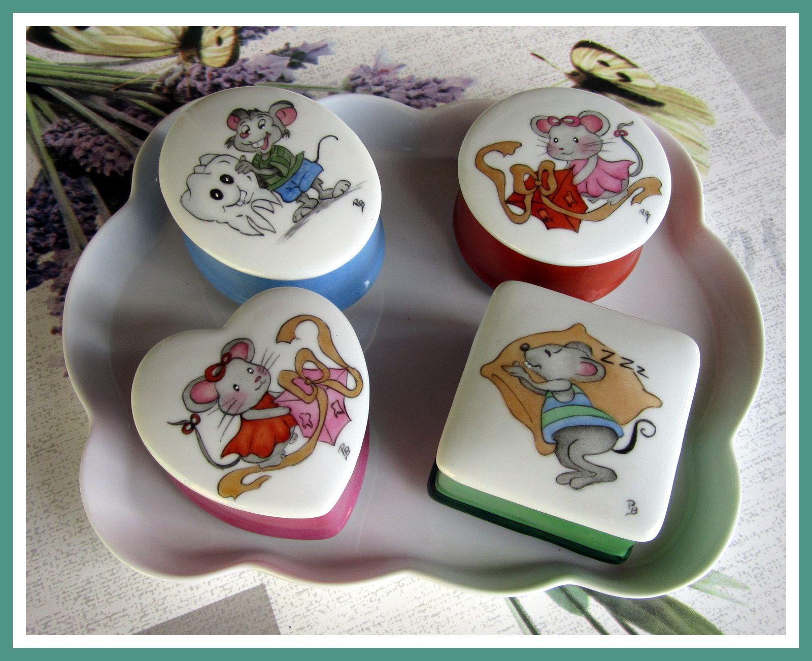 nouveaut s mod les pour enfants porcelaine peinte peinture sur porcelaine et porcelaine. Black Bedroom Furniture Sets. Home Design Ideas