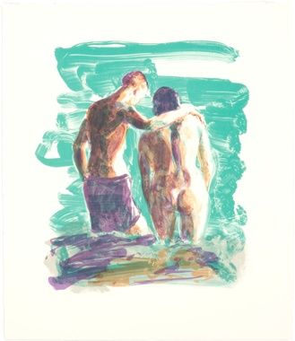 Two From Behind, Eric Fischl, 2009, print
