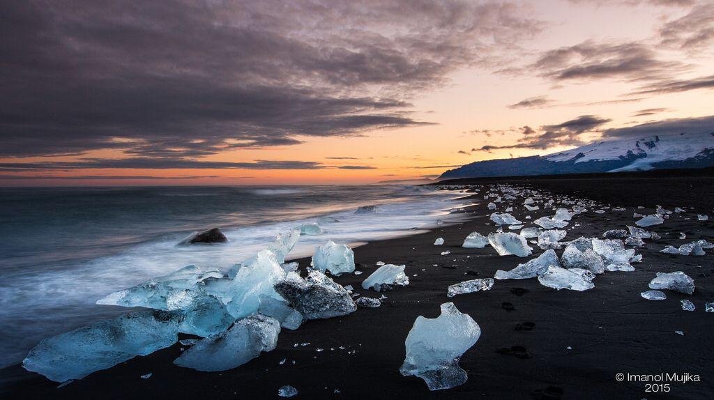 Sunset in Jokursalon - Iceland 2015