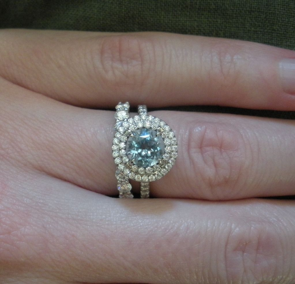 eb6f1f291f9 Tiffany Soleste Aquamarine   Diamond halo ring