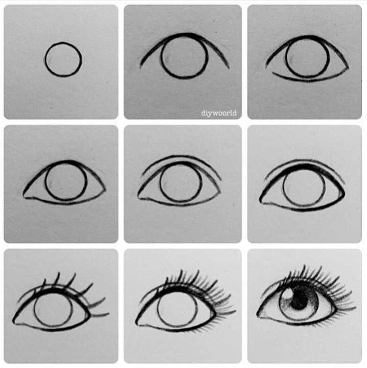 How To Easily Draw An Eye Easy Charcoal Drawings Art Drawings Sketches Eye Drawing