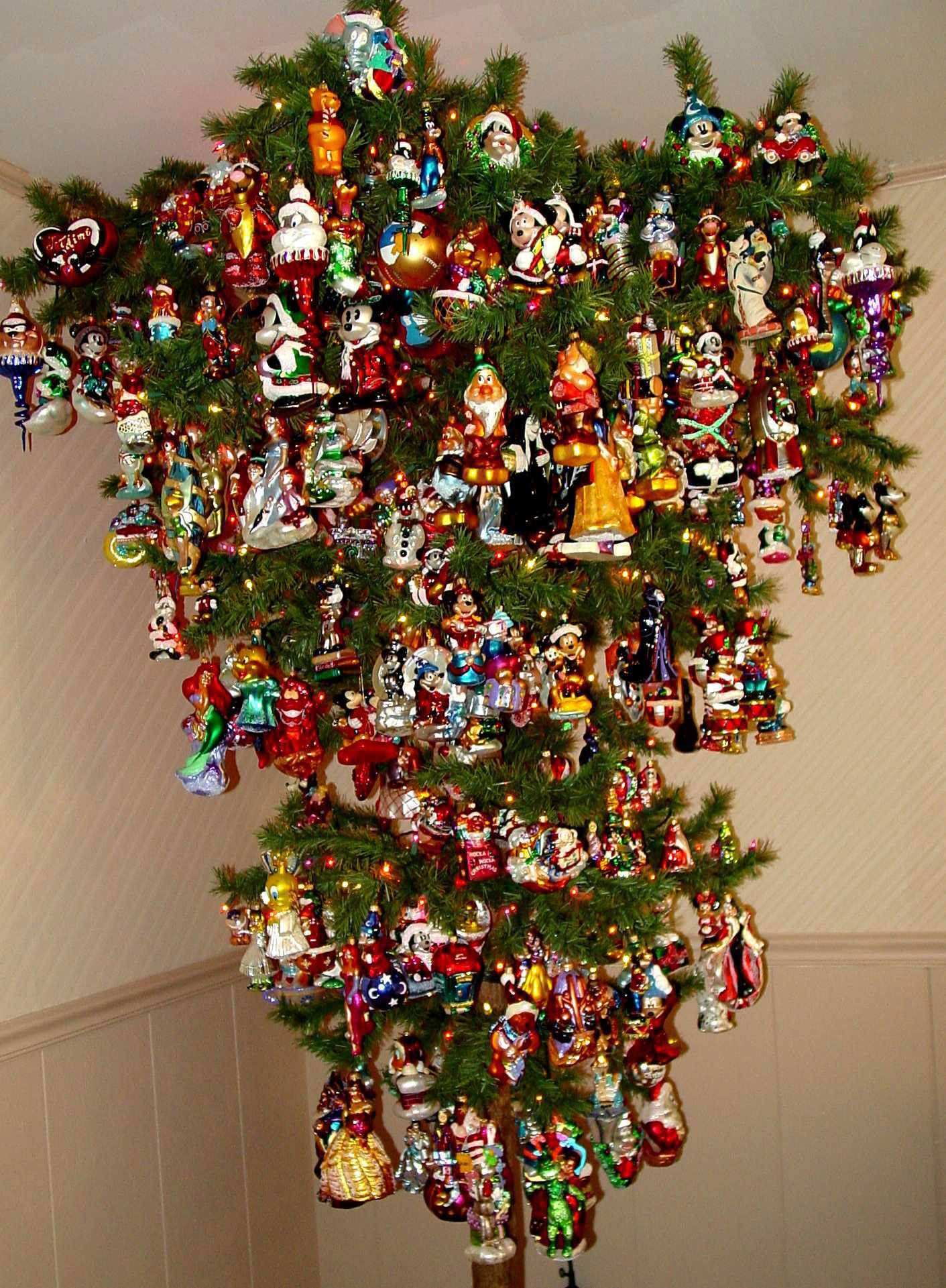 Unique christmas tree decorations ideas - Upside Down Disney Christmas Tree This Is Really Cool