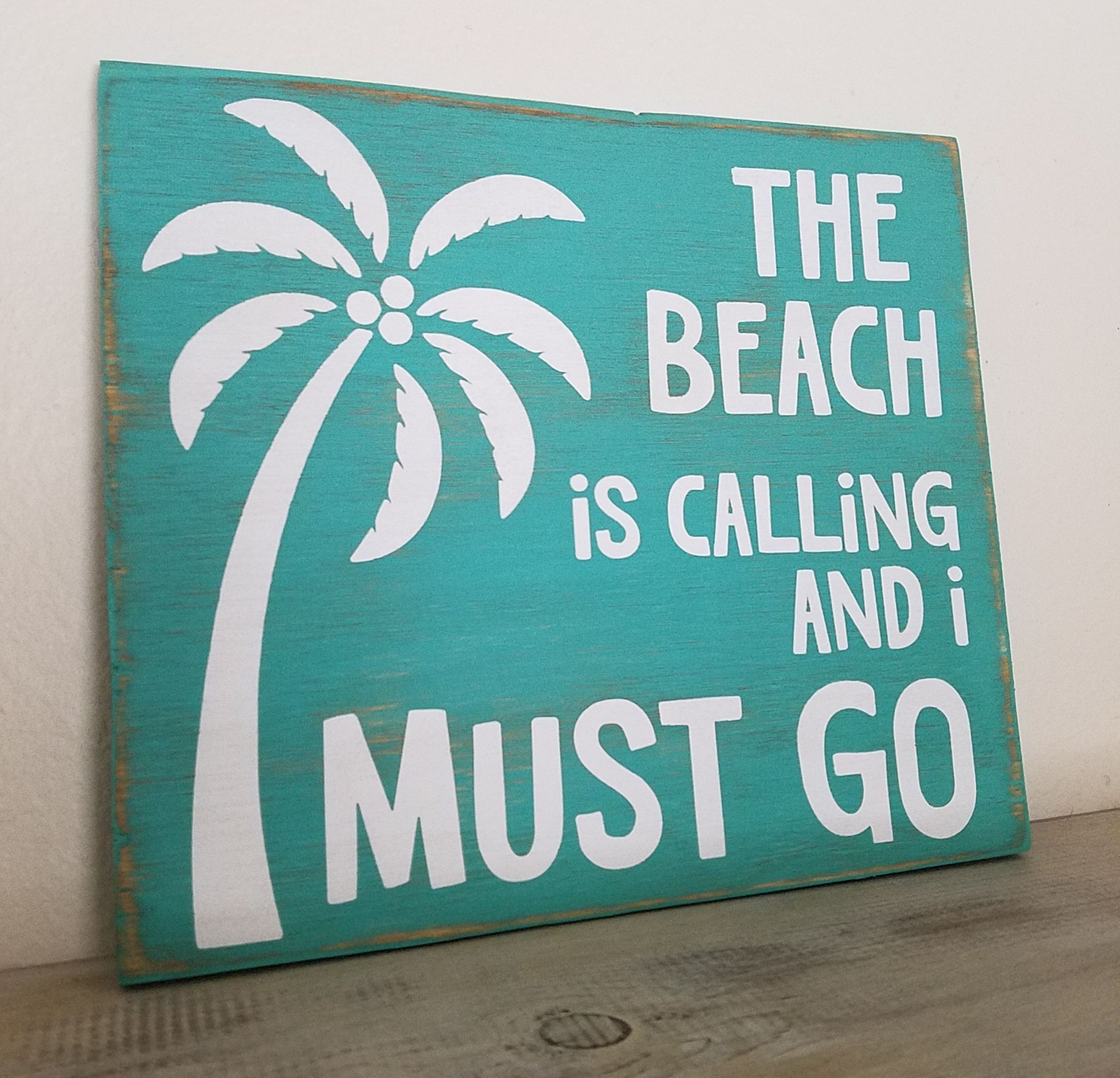 Beach Wall Sign, Beach Sign, The Beach Is Calling And I Must Go Sign ...