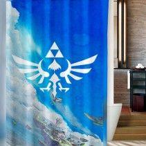 Legend Of Zelda Triforce The Gods Shower Curtain