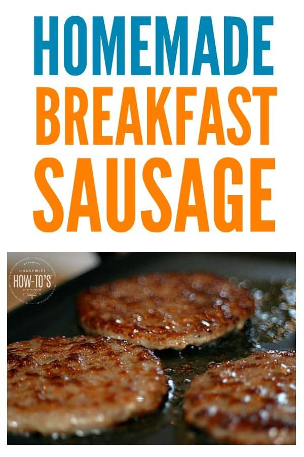 Easy Homemade Breakfast Sausage Recipe - you just need ground pork and spices you probably already have! #breakfastrecipe #breakfast #sausage #pork #porksausages