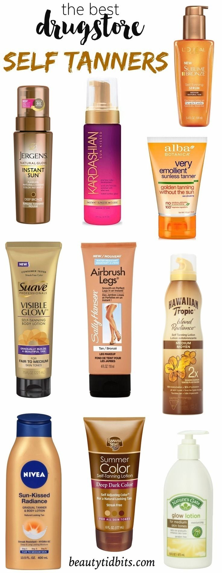 Get Glowing! Best Drugstore Self-Tanners