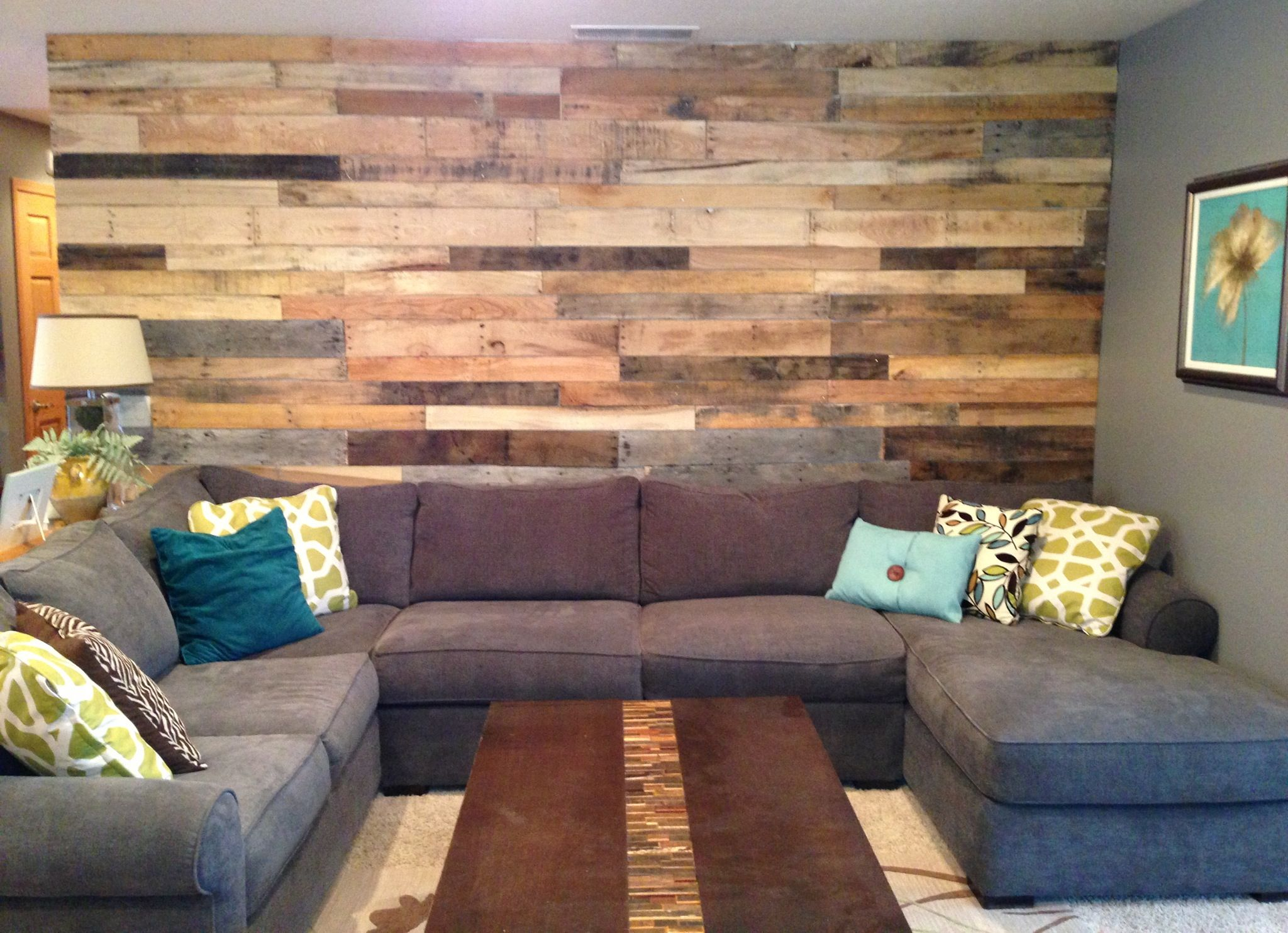 Our Living Room Pallet Wall Pallet Wall Decor Pallet Wall Pallet Wall Bedroom #pallet #furniture #living #room