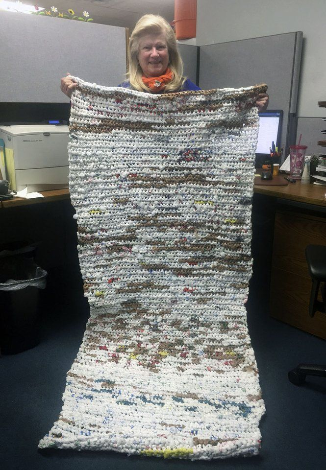 Hours Of Crocheting Plastic Bags To Become A Sleeping Mats
