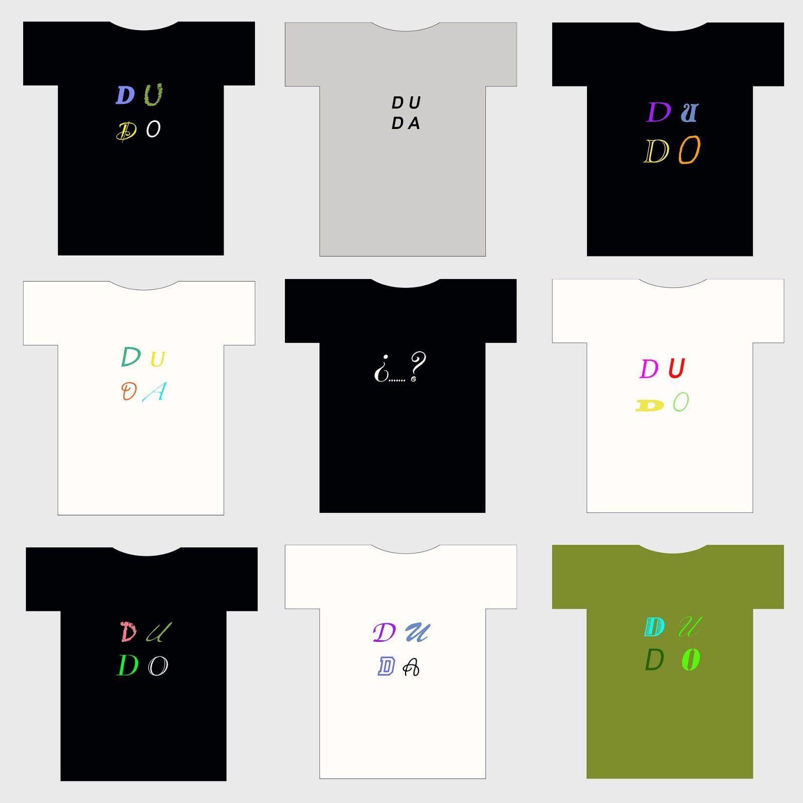 camisetas, duda