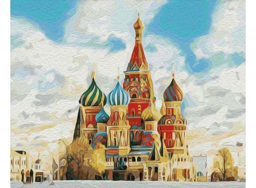 Картина по номерам «Храм Василия Блаженного»   Картины ...