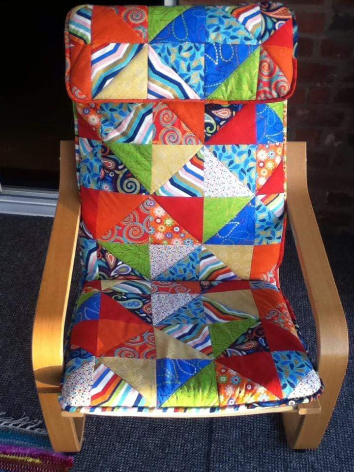 Chair Cover Quilting Plush Leather Ikea By Sewing Alterations Mandy Knaggs Quilts