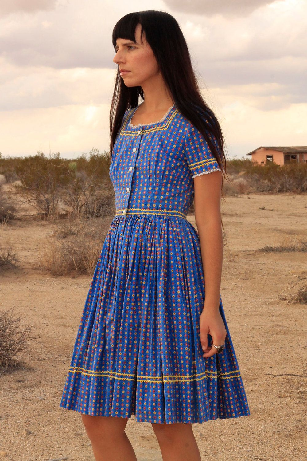 70s Prairie Girl Country Dress Country Dresses Modest Dresses Country Fashion [ 1500 x 1000 Pixel ]