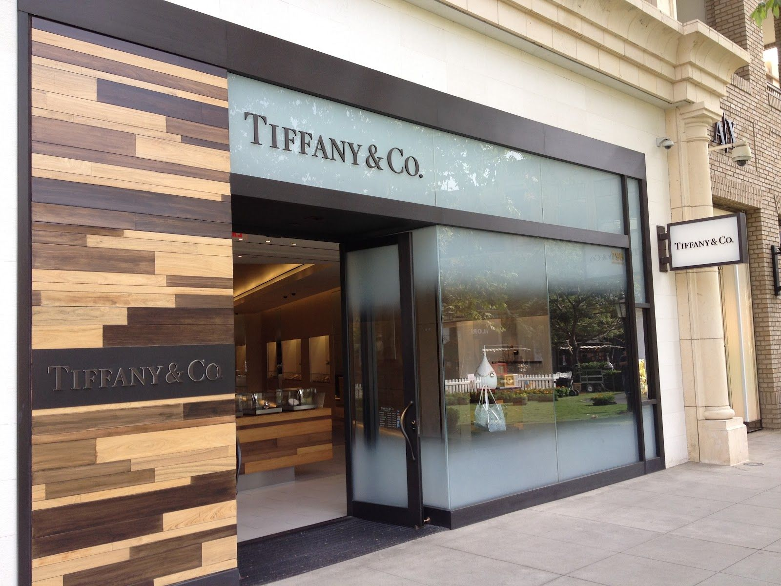 Exterior Wood Work And Metal Tiffany Co American At Brand Glendale CA Retail Interior DesignGreen