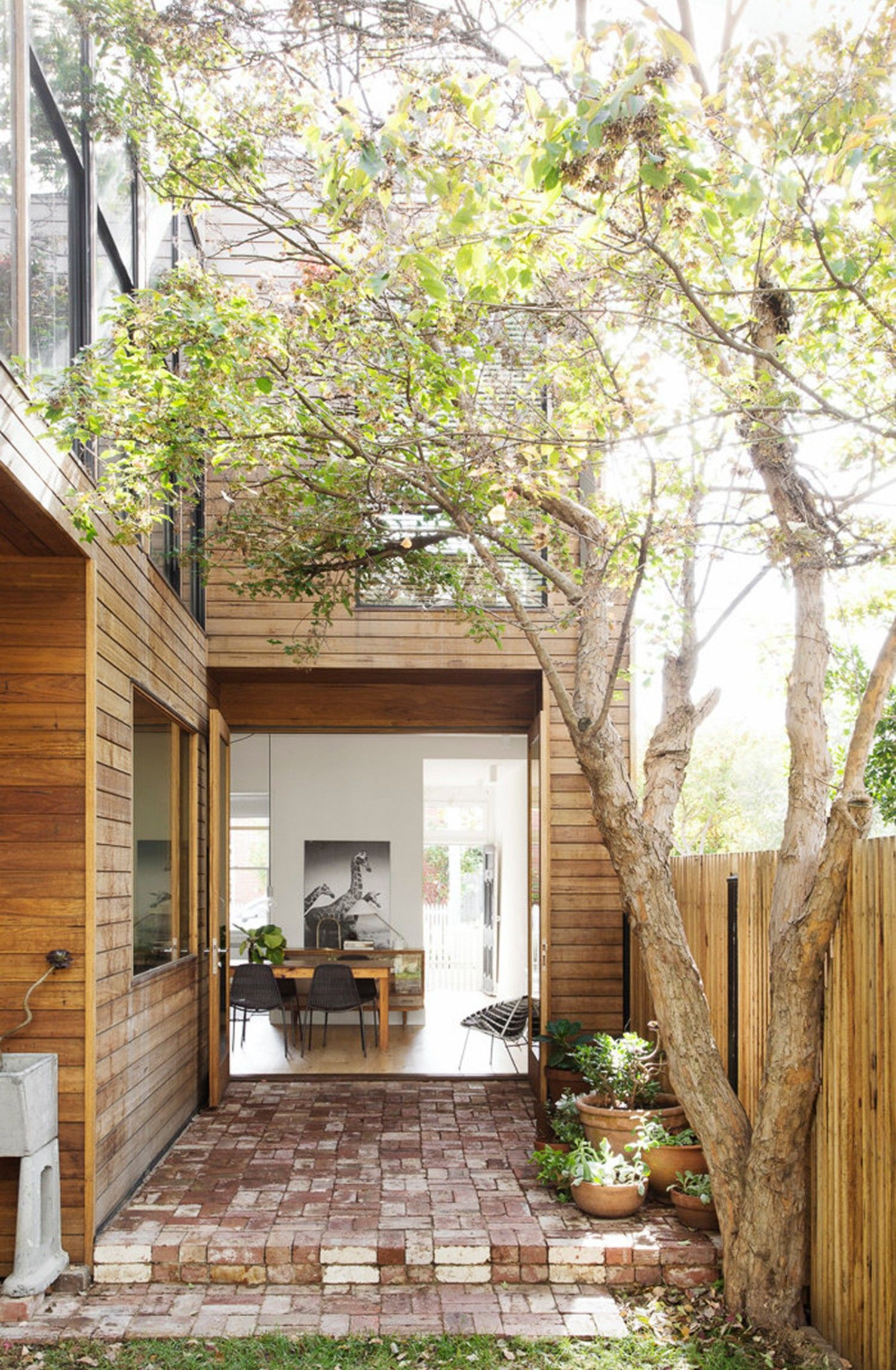 Related Image For The Home Pinterest Home Outside Design Est-living-fitzroy-house-pipkorn-kilpatrick Outdoor Spaces, Australian Homes