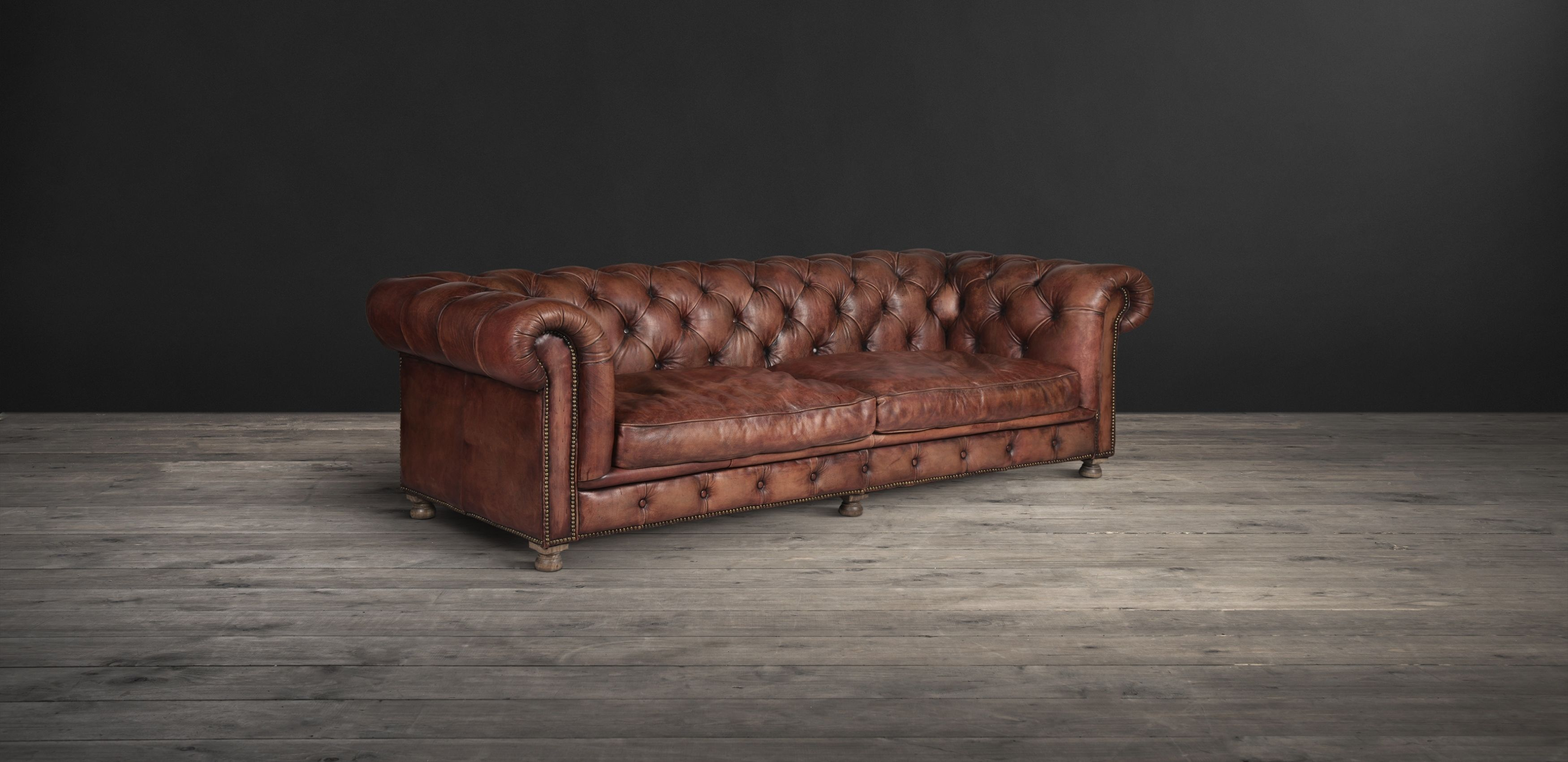 The Chesterfield Inspired Westminster Feather Sofa In Warm Vintage