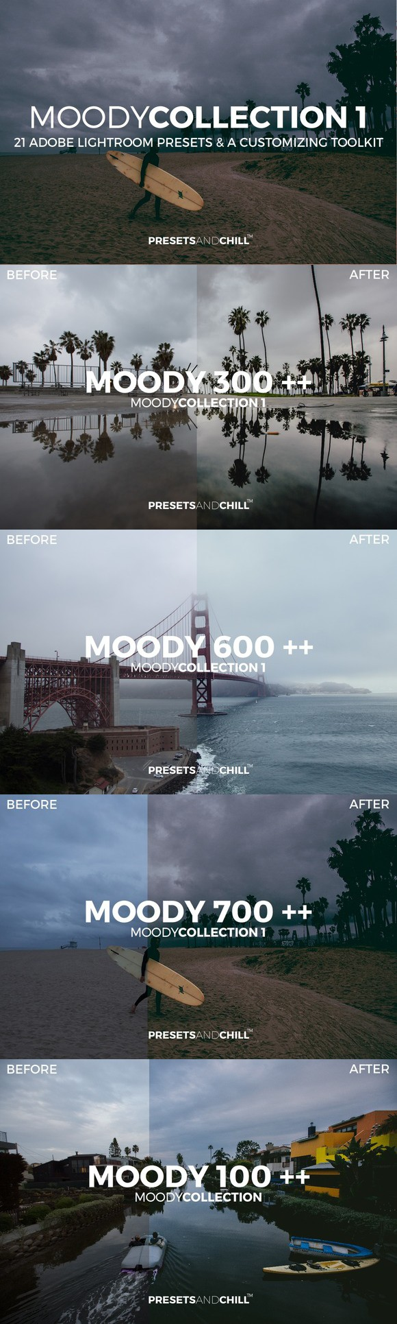 MOODY COLLECTION 1 - Adobe Lightroom. Plug-ins. $7.00