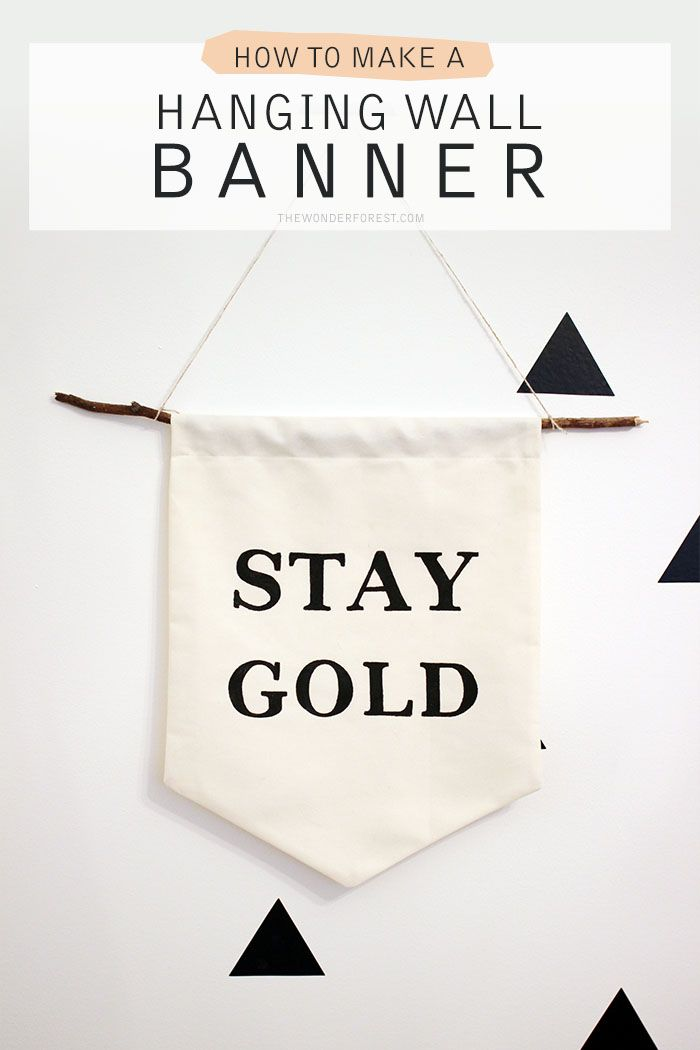 Make Your Own Hanging Wall Banner With Quote Diy Diy Diy Wall