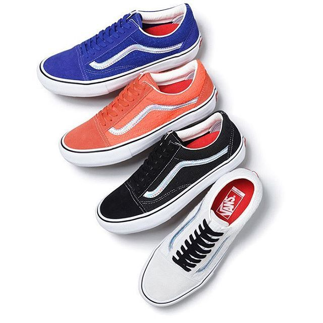 b212b6e925e Supreme is releasing four styles of the Vans Old Skool with iridescent  accents. Get full release details now on SneakerNews.com.