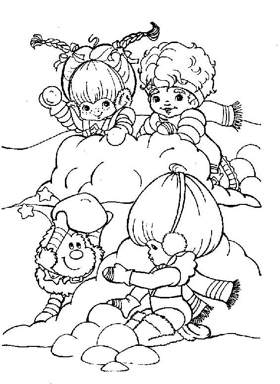 Rainbow Brite Playing With Friends Coloring Pages