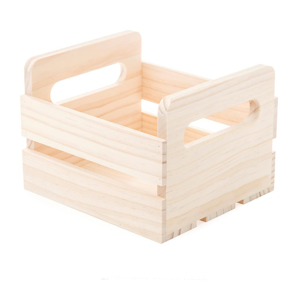 Darice Small Wooden Crate In Unfinished Wood Small Wooden Crates Unfinished Wood Crates Unfinished Wood