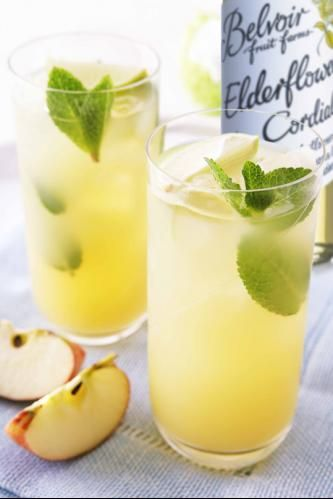 English Garden Cocktail -    2 shots of Gin ( or more if in need of something stronger)   - 2.5 shots of Apple Juice  -  1.5 shots of Elderflower Cordial     - A squeeze of Lime and a slice of Cucumber    - Stir well and then serve overice
