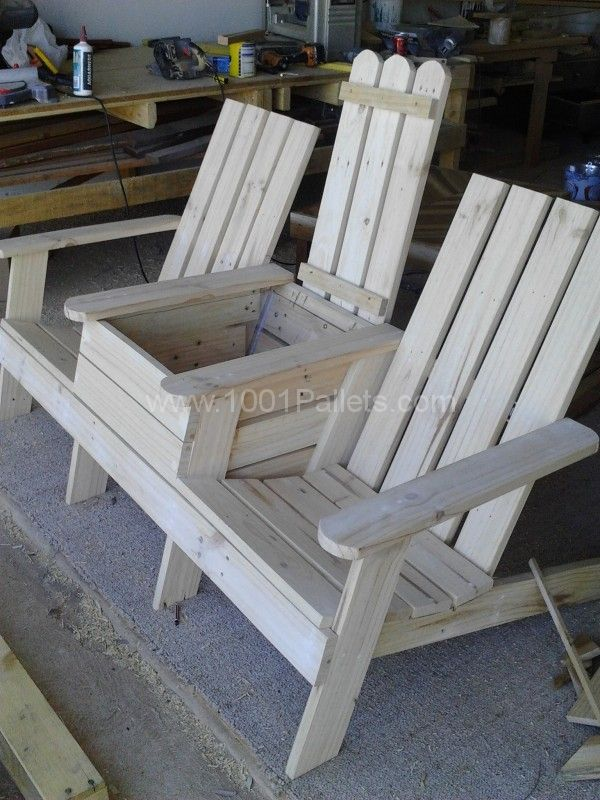 Garden Furniture Using Pallets adirondack jack & jill chair from pallets | pallet chair, pallet