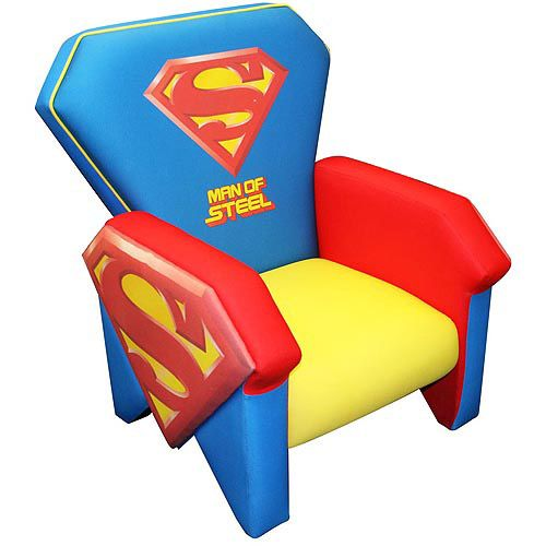 superman chair love it playroom ideas superman kids icon rh pinterest com spiderman chairs superman character profile