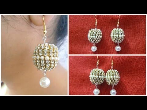 How to make latest designer bridal silk thread earrings at home I ...