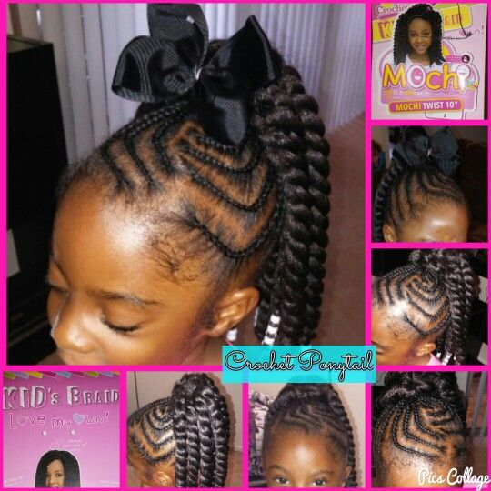 Natural Crochet Ponytail Kid Protectivestyling Hairstyles For
