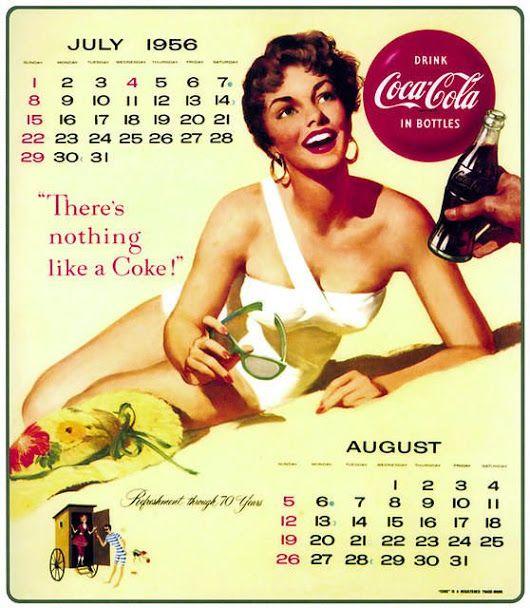 Coca-Cola Pin-up Calendar | What's the Date? | Coca cola