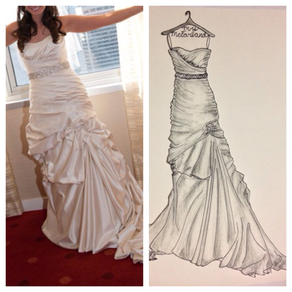 Best Wedding Gown Preservation: Perfect Gift For A Bride. 9 X 12 Custom Wedding Dress