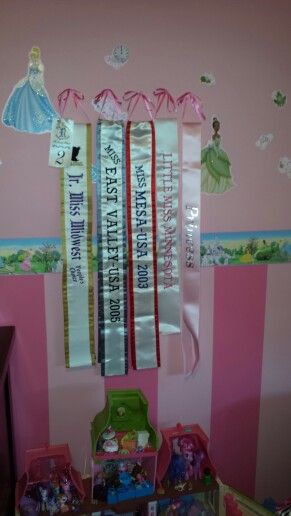 Found A Clever Way To Display Pageant Banners And Sashes
