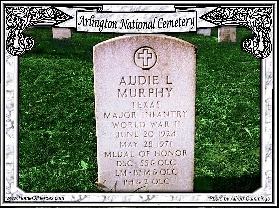 audie murphy born june 20 1924 at kingston tx entered service in