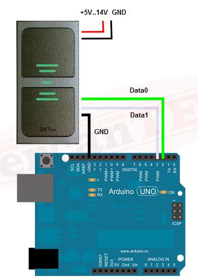 Arduino – Wiegand Kart Okuyucu Kullanımı | Arduino Projelerim