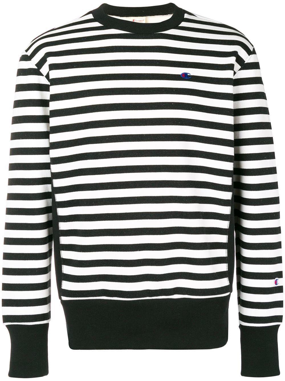 9533b5c3e72e Champion embroidered logo striped sweatshirt - White in 2019 ...