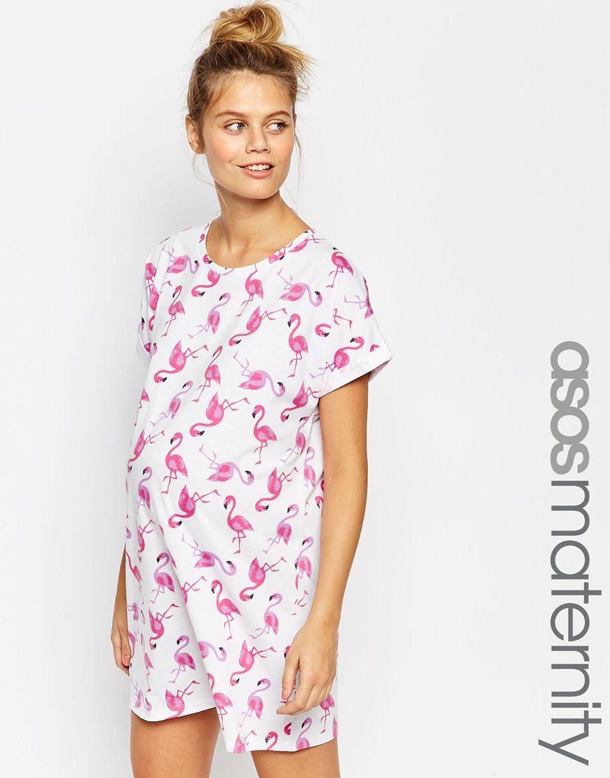 Asosmaternityflamingopyjamanightie dresses pinterest shop asos maternity flamingo pyjama nightie at asos ombrellifo Gallery
